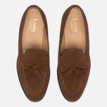 Мужские ботинки лоферы Loake Lincoln Suede Polo Brown фото- 4