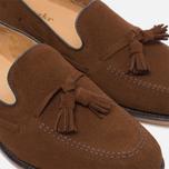 Мужские ботинки лоферы Loake Lincoln Suede Polo Brown фото- 5