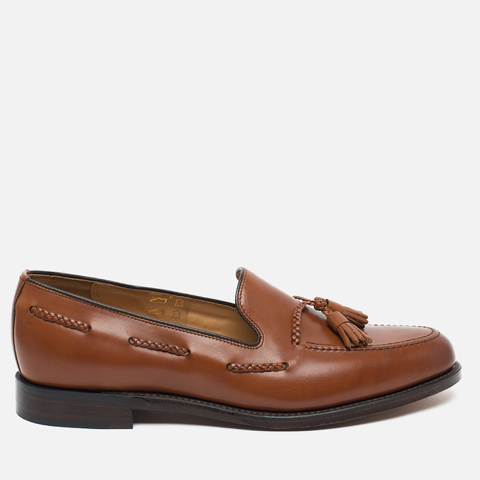 Мужские ботинки лоферы Loake Temple Calf Brown