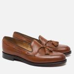 Мужские ботинки лоферы Loake Temple Calf Brown фото- 1