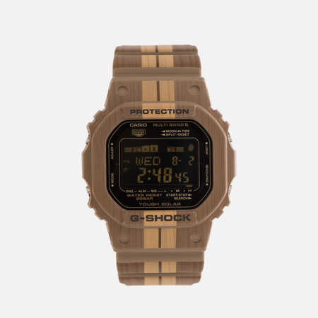 Мужские наручные часы CASIO G-SHOCK G-LIDE GWX-5600WB-5E Surf Style Pack Brown Wood