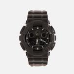 Наручные часы CASIO G-SHOCK GA-100BT-1A Black Leather Texture Series Black фото- 0