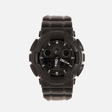 Наручные часы CASIO G-SHOCK GA-100BT-1A Black Leather Texture Series Black