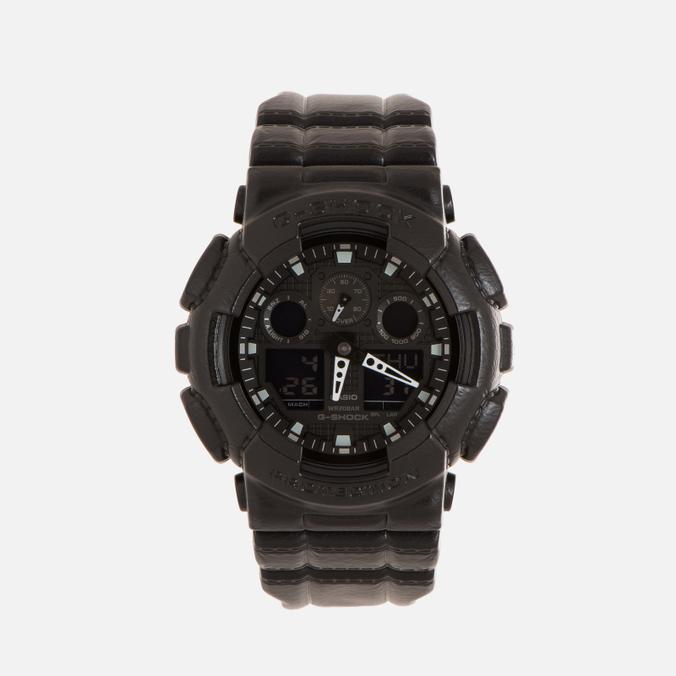 Наручные часы CASIO G-SHOCK GA-100BT-1A Black Leather Texture Series Black