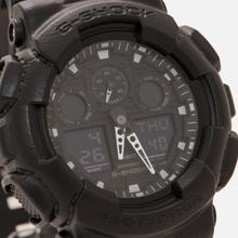 Наручные часы CASIO G-SHOCK GA-100BT-1A Black Leather Texture Series Black фото- 2