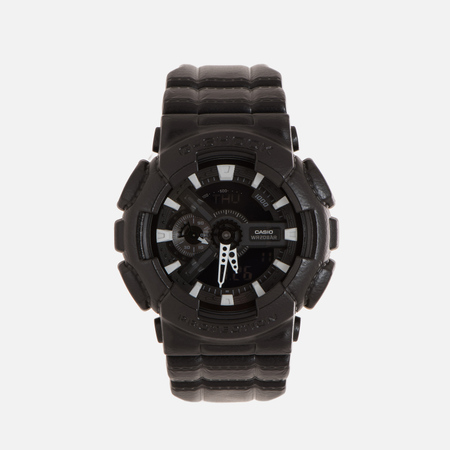 Мужские наручные часы CASIO G-SHOCK GA-110BT-1A Black Leather Texture Series Black
