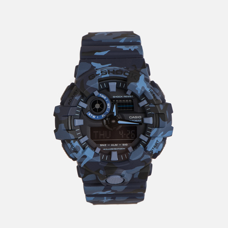 Мужские наручные часы CASIO G-SHOCK GA-700CM-2A Camouflage Series Blue