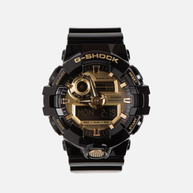 Мужские наручные часы CASIO G-SHOCK GA-710GB-1AER Black/Gold