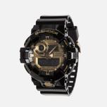 Мужские наручные часы CASIO G-SHOCK GA-710GB-1AER Black/Gold фото- 1