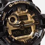 Мужские наручные часы CASIO G-SHOCK GA-710GB-1AER Black/Gold фото- 2