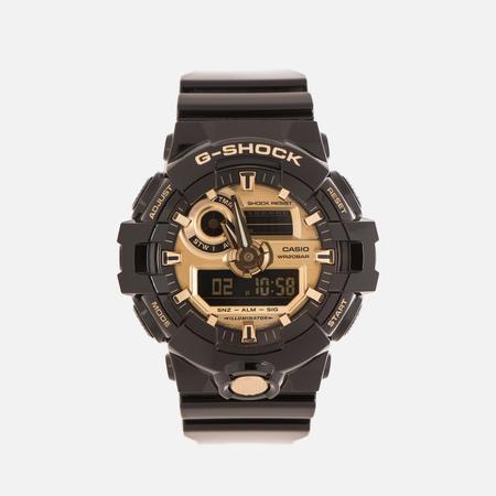 Мужские наручные часы CASIO G-SHOCK No Comply GA-710GB-1AER Black/Gold