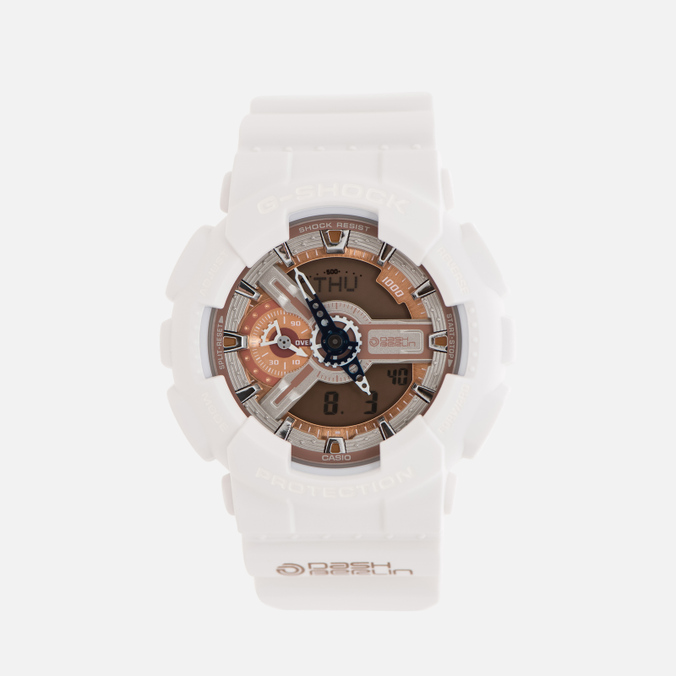 Мужские наручные часы CASIO G-SHOCK x DJ Dash Berlin GA-110DB-7A White/Rose Gold