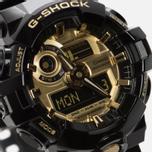 Мужские наручные часы CASIO G-SHOCK No Comply GA-710GB-1AER Black/Gold фото- 2