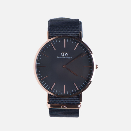Мужские наручные часы Daniel Wellington Classic Black Cornwall Rose Gold