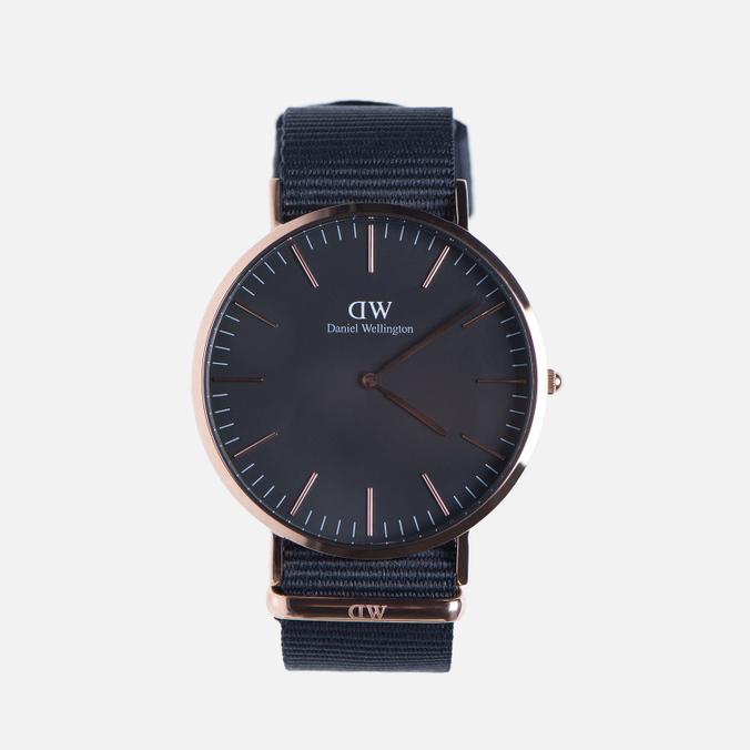 Мужские наручные часы Daniel Wellington Classic Black Cornwall Rose Gold