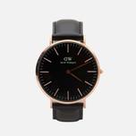 Мужские наручные часы Daniel Wellington Classic Black Sheffield Rose Gold фото- 0