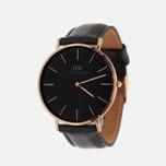 Мужские наручные часы Daniel Wellington Classic Black Sheffield Rose Gold фото- 1