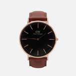 Мужские наручные часы Daniel Wellington Classic Black St Mawes Rose Gold фото- 0