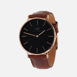 Мужские наручные часы Daniel Wellington Classic Black St Mawes Rose Gold фото- 1
