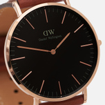 Мужские наручные часы Daniel Wellington Classic Black St Mawes Rose Gold фото- 2