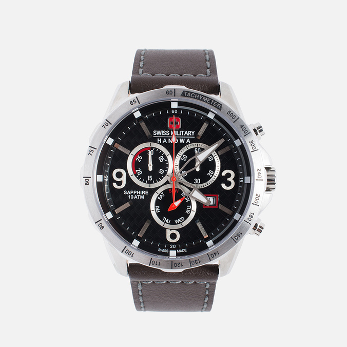 Мужские наручные часы Swiss Military Hanowa Ace Chrono Black/Silver