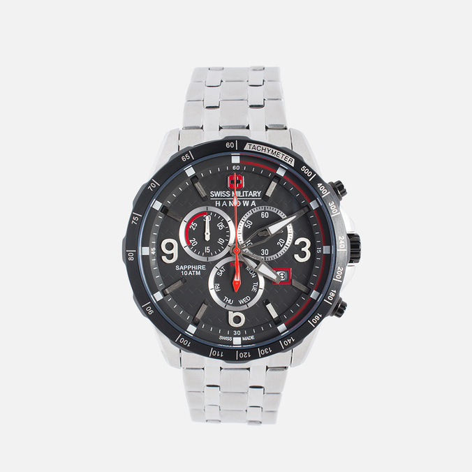 Swiss Military Hanowa Ace Chrono Men's Watch Silver/Black