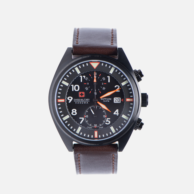 Мужские наручные часы Swiss Military Hanowa Airborne Chrono Black/Brown