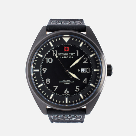 Swiss Military Hanowa Avio Line Men's Watch Black/Silver