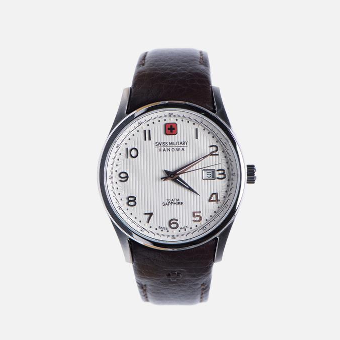 Мужские наручные часы Swiss Military Hanowa Navalus Silver/Brown