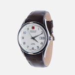 Мужские наручные часы Swiss Military Hanowa Navalus Silver/Brown фото- 1