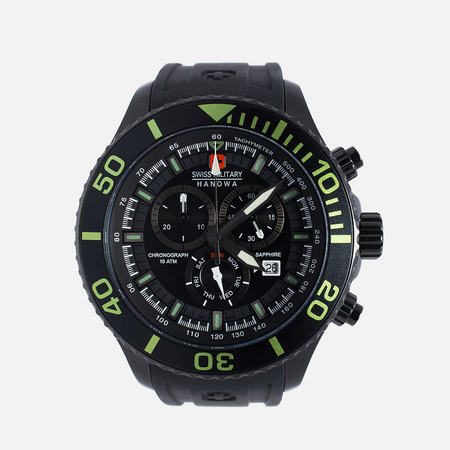 Swiss Military Hanowa Navy Line Immersion Chrono Men's Watch Black/Voltage Green