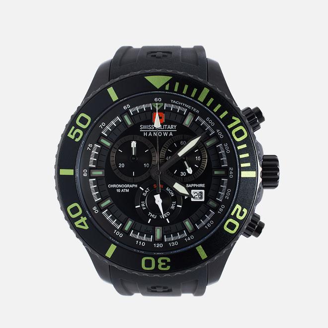 Наручные часы Swiss Military Hanowa Navy Line Immersion Chrono Black/Voltage Green