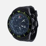 Мужские наручные часы Swiss Military Hanowa Navy Line Immersion Chrono Black/Voltage Green фото- 1