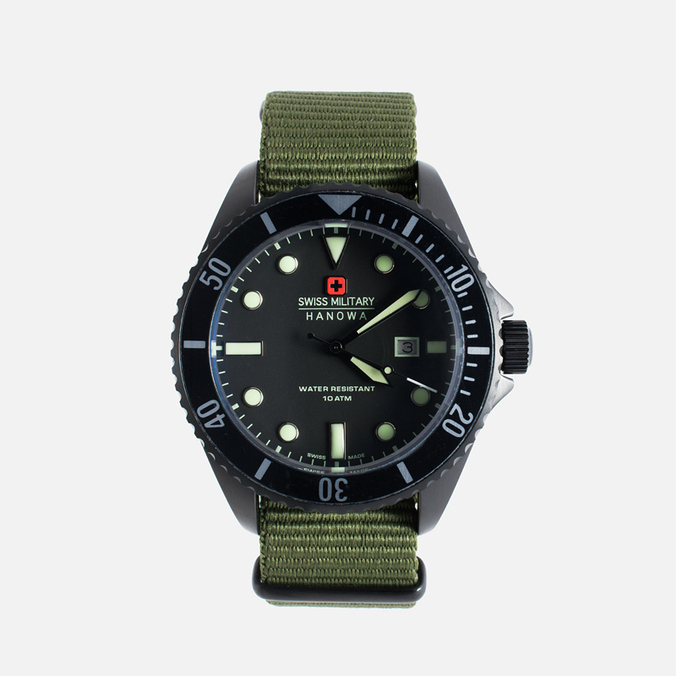 Мужские наручные часы Swiss Military Hanowa Sea Lion Black/Green