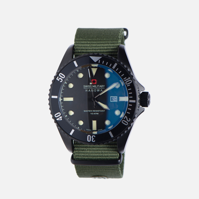 Мужские наручные часы Swiss Military Hanowa Sea Lion Set Black/Green