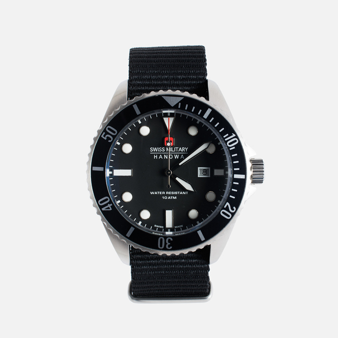 Мужские наручные часы Swiss Military Hanowa Sea Lion Silver/Black
