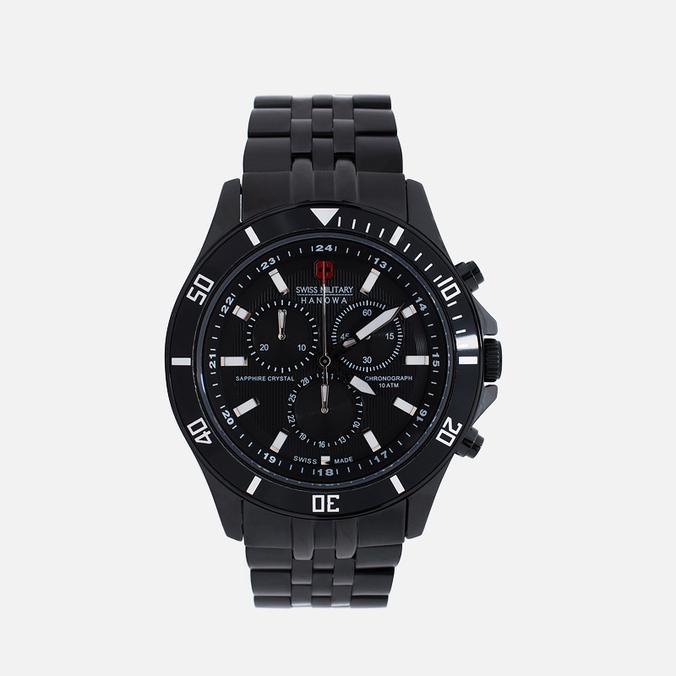 Мужские наручные часы Swiss Military Hanowa Flagship Chrono Black