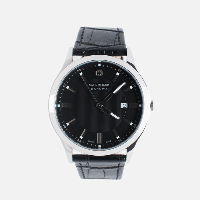 Мужские наручные часы Swiss Military Hanowa Lieutenant Silver/Black