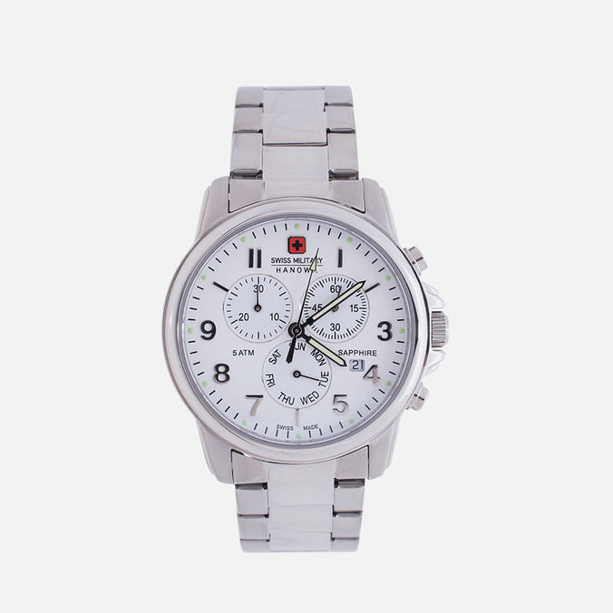 Мужские наручные часы Swiss Military Hanowa Swiss Soldier Chrono Silver/White