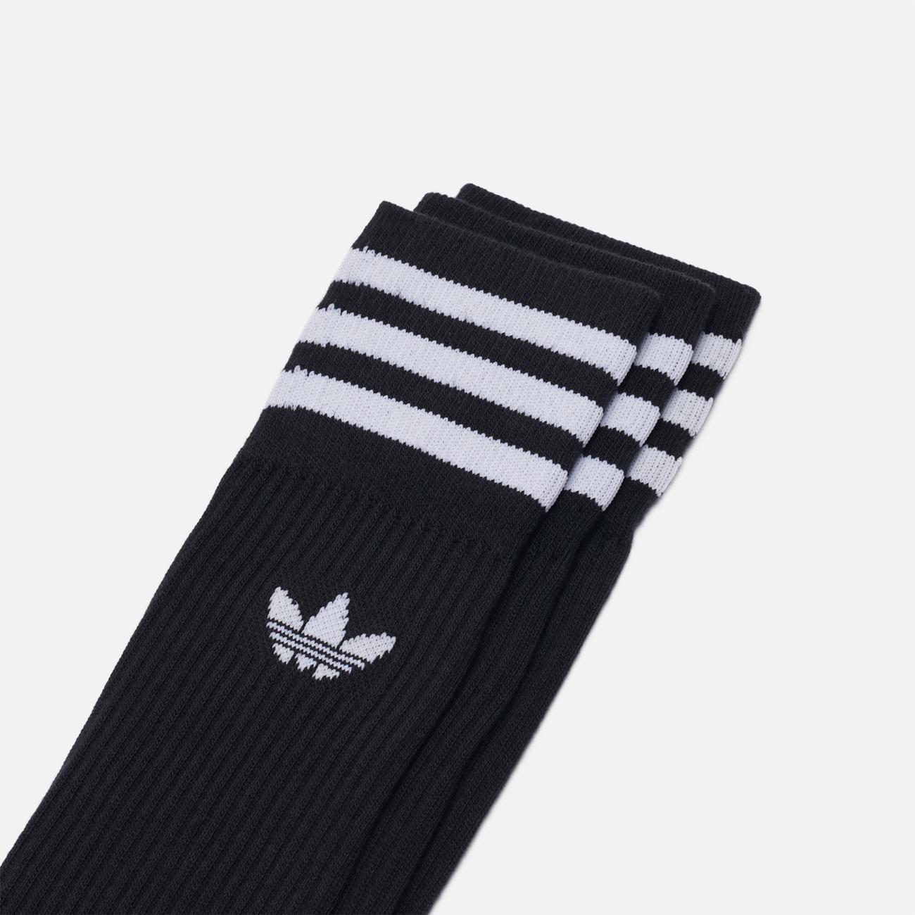 Комплект носков adidas Originals Crew 3 Pairs Black/White