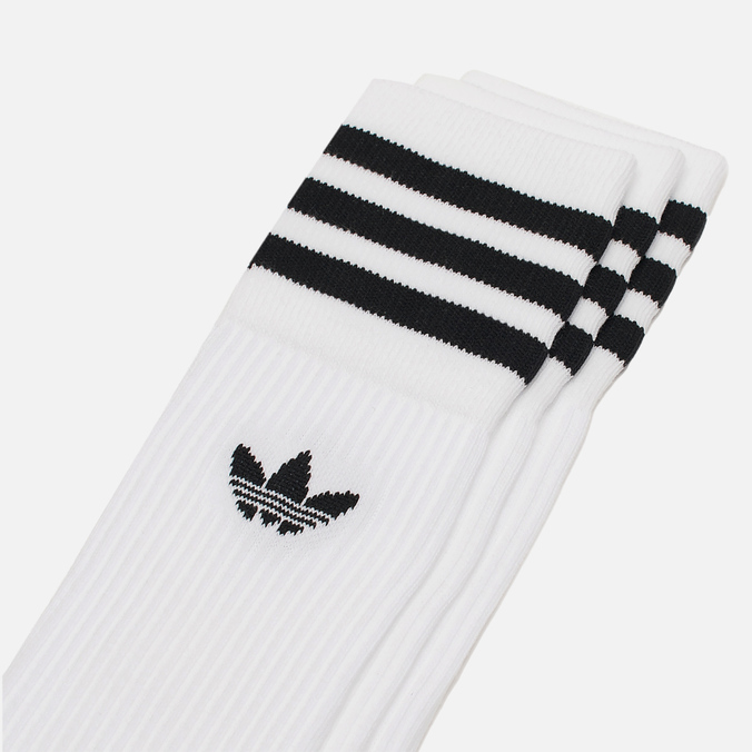 Комплект носков adidas Originals Crew 3 Pairs White/Black