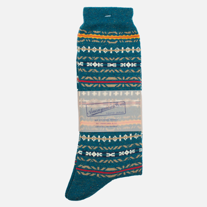 Мужские носки Anonymous Ism Fair Isle Blue