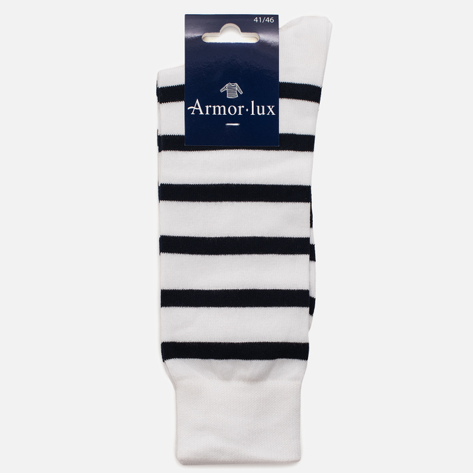 Мужские носки Armor-Lux Striped White/Dark Navy