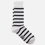 Мужские носки Armor-Lux Striped White/Dark Navy фото- 1