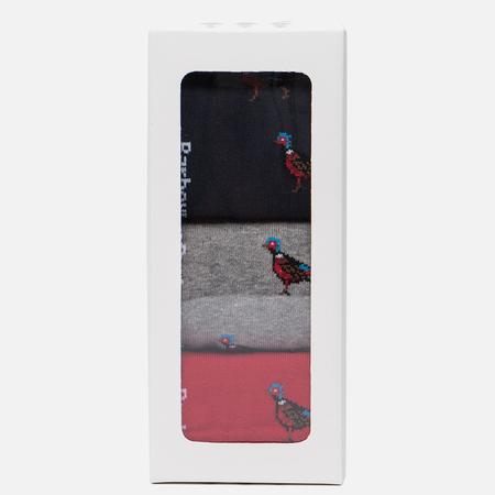 Комплект мужских носков Barbour 3-Pack Pheasant Gift Box Multicolor