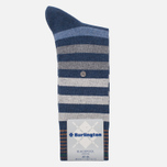 Мужские носки Burlington Blackpool Dark Blue Melange фото- 0