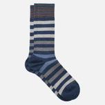 Мужские носки Burlington Blackpool Dark Blue Melange фото- 1
