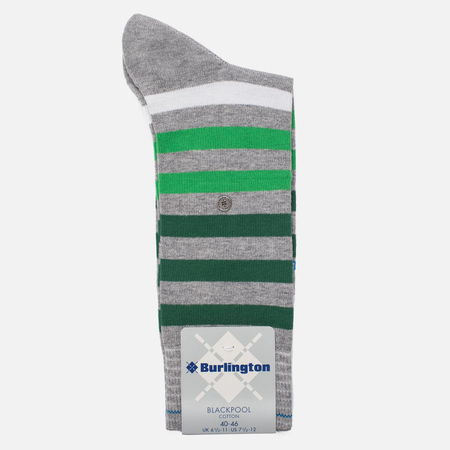 Мужские носки Burlington Blackpool Light Grey/Green