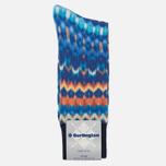 Мужские носки Burlington Blurred Stripe Dark Blue Melange фото- 0