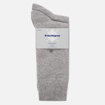 Комплект мужских носков Burlington Classic Everyday 2-Pack Light Grey